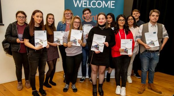 Central Saint Michael's Sixth Form A Level award winners group