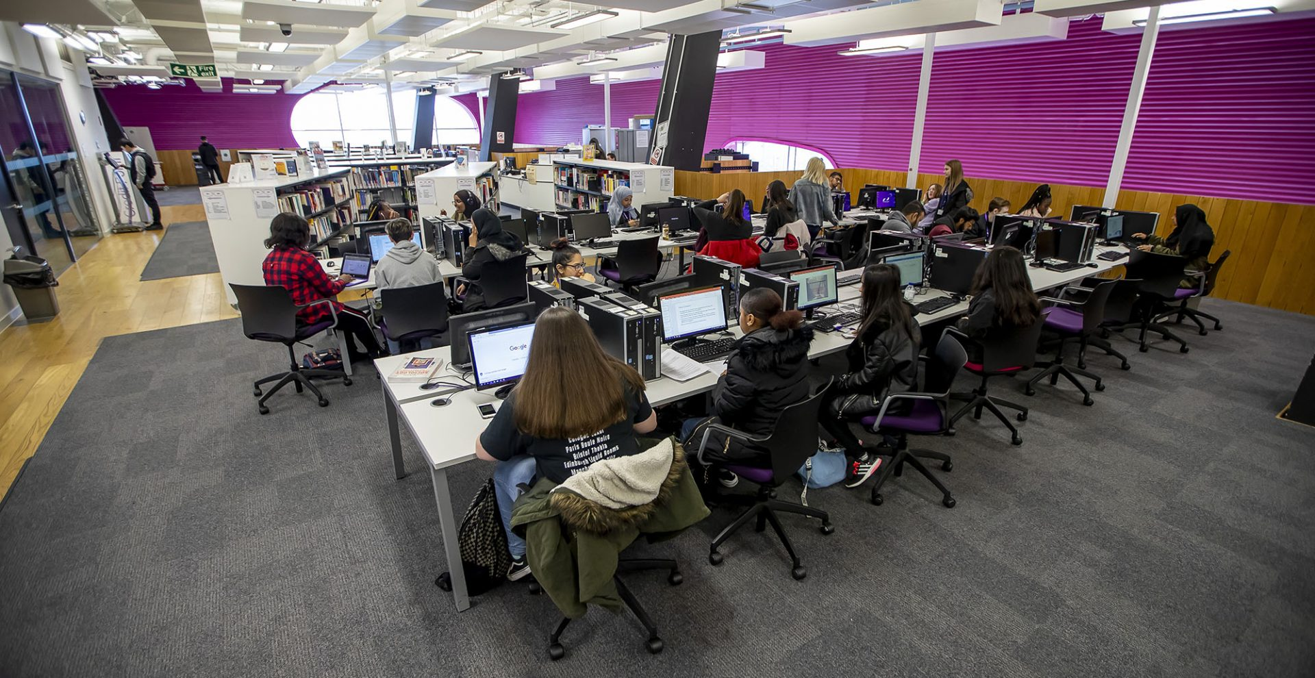Students in Central St Michael's Sixht Form learning centre