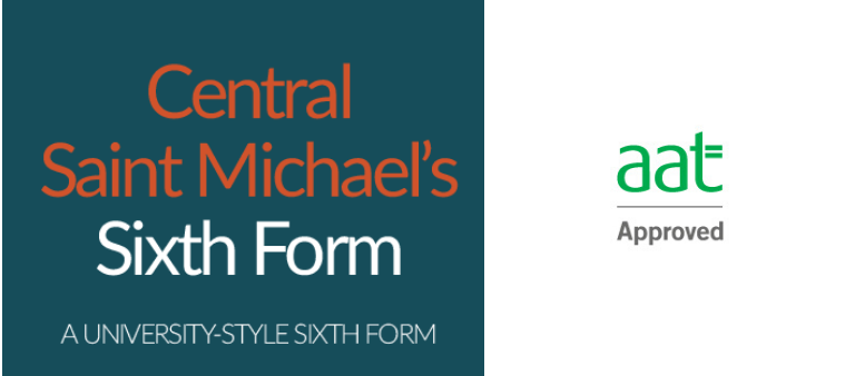 Central Saint Michael's Sixth form and aat logo