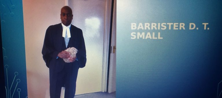 Screenshot of Barrister D.T. Small's presentation
