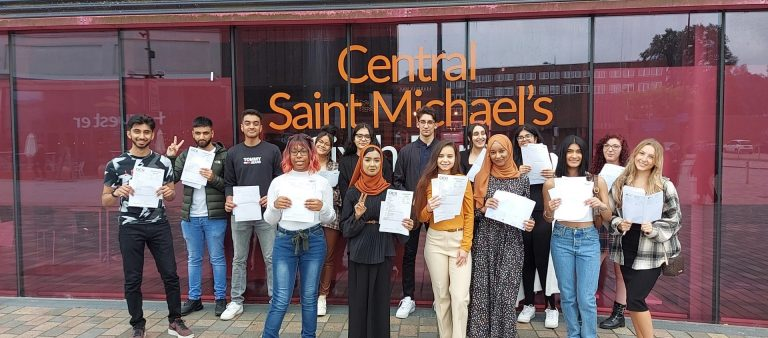 Students outside Central St Michael's campus